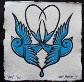 Image of 'Blue' - Hand Painted Lino Print