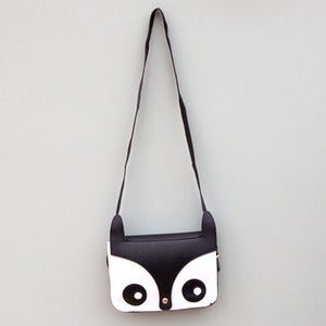 Image of Owl Saddle Bag in Black 