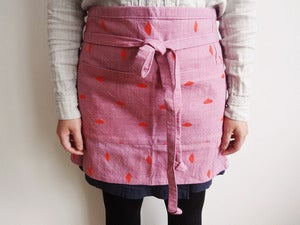 Image of Pink Half Cafe Apron 
