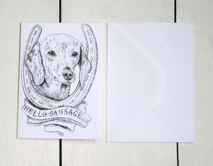 Image of 'Hello Sausage' Greeting Card