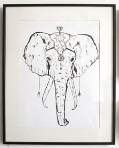 Image of A3 Circus Elephant Screen Print