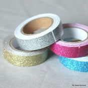Image of Masking tape à paillettes - 4 coloris