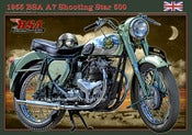 Image of 1955_BSA_Shooting_Star_500_Classic_motorcycle_poster