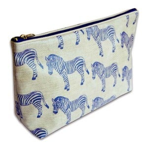 Image of 'Zebra Surprise' Oilcloth Wash Bag