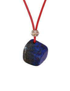 Image of Athena Necklace ~ Lapis {Red}