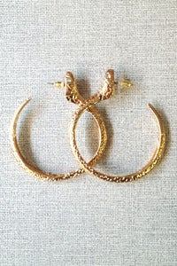 Image of snake hoops by Allen&amp;Code