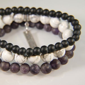 Image of N E W    S T A C K S!  Set of 3 bracelets to stack with your other JK pieces - Amethyst