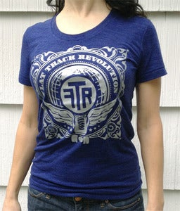 Image of  FTR Winged Skate T - Indigo Blue