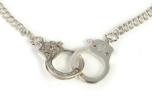 Image of Functioning Silver Handcuff Necklace