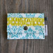 Image of tiny pouch - turquoise damask