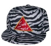"Image of Joe Rocken's ""The All Over"" Zebra Print Strap Back Hat Exclusive Design"