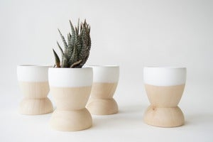 Image of White Mini Planter Set of 4