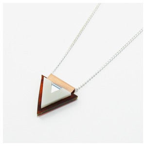 Image of Overlay Triangle Necklace - Tortoiseshell