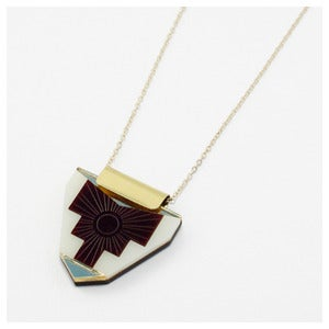 Image of Peru Necklace - Maroon