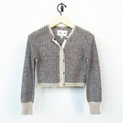 Image of Linear B cropped cardigan - smoke