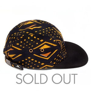 Image of MOUPIA Kitenge/Black Wool 5 Panel hat