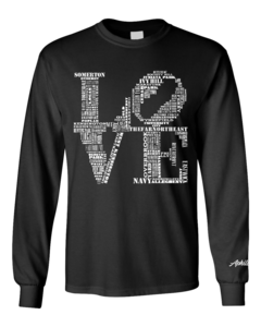 Image of Classic LOVE Long-Sleeve T-Shirt (Black/White)