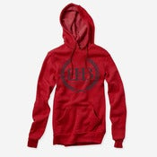 Image of Royal Crest Pullover Hoodie (Red)