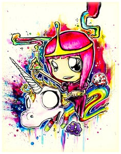 "Image of ""Princess Bubblegum"" 11x14in Print"