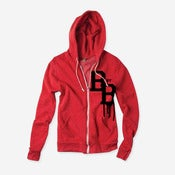Image of Varsity Zip Hoodie (Red & Black)