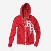 Image of Varsity Zip Hoodie (Red & White)