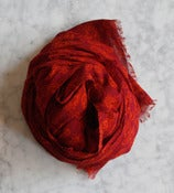 Image of Red Cotton Scarf