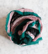 Image of Green Cotton Scarf