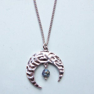 Image of Crescent Moon Rock Necklace
