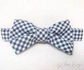 Image of Navy Gingham Bowtie (IDR 65,000)