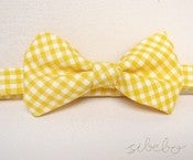 Image of Yellow Gingham Bowtie (IDR 65,000)