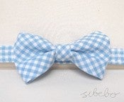 Image of Light Blue Gingham Bowtie (IDR 65,000)