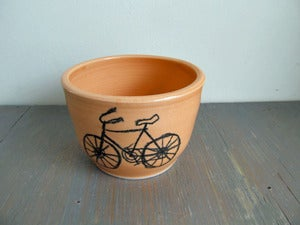 Image of Small Tangerine Bicycle Bowl