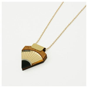 Image of Sun Point Necklace - Gold