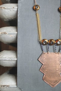 Image of deco tribe copper necklace