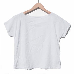 Image of Arrow Tee <br>White Linen
