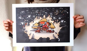 Image of Red Pandas Strikes Back A3 Print