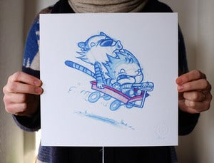 Image of Calvin and Hobbes 10&quot; x 10&quot; print
