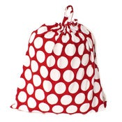 Image of Extra Large Laundry Bag for Dorm and Travel : Red and White Dots