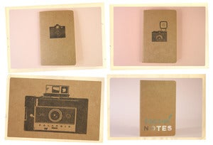 Image of Hand Stamped Moleskine Notebook