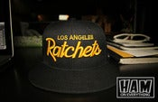Image of LA RATCHETS SNAPBACK (black/gold)