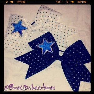 Image of Blue Twinkle Star Bow