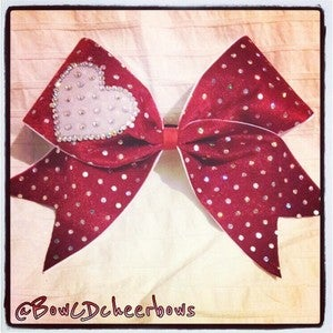 Image of Red and White Sweetheart Bow