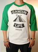 Image of 3/4 Baseball Tee (Green/White)