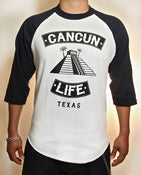 Image of 3/4 Baseball Tee (Dark Navy/White)