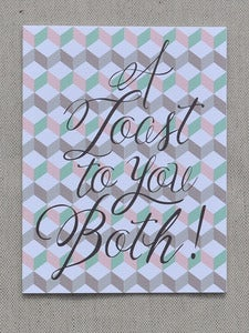 Image of A Toast to You Both Note Card