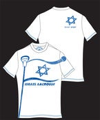 Image of Israel lacrosse men's white O-neck t-shirt