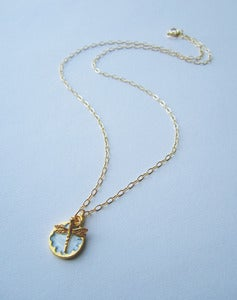 Image of Lady Of The Lake Dragonfly Luxe Necklace