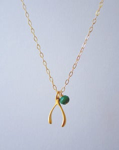 Image of Wish-ful Thinking Luxe Wishbone Necklace