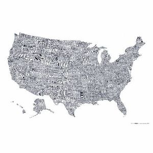 Image of Word Map of the USA