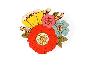 Image of Poppy Posy Brooch